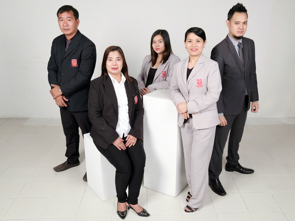 IACE CEO Susana Balanay together with BOD (L-R) Jenner Amora, Dianica Delos Reyes, Gina Boquio, and Atty Carlo Ybanez