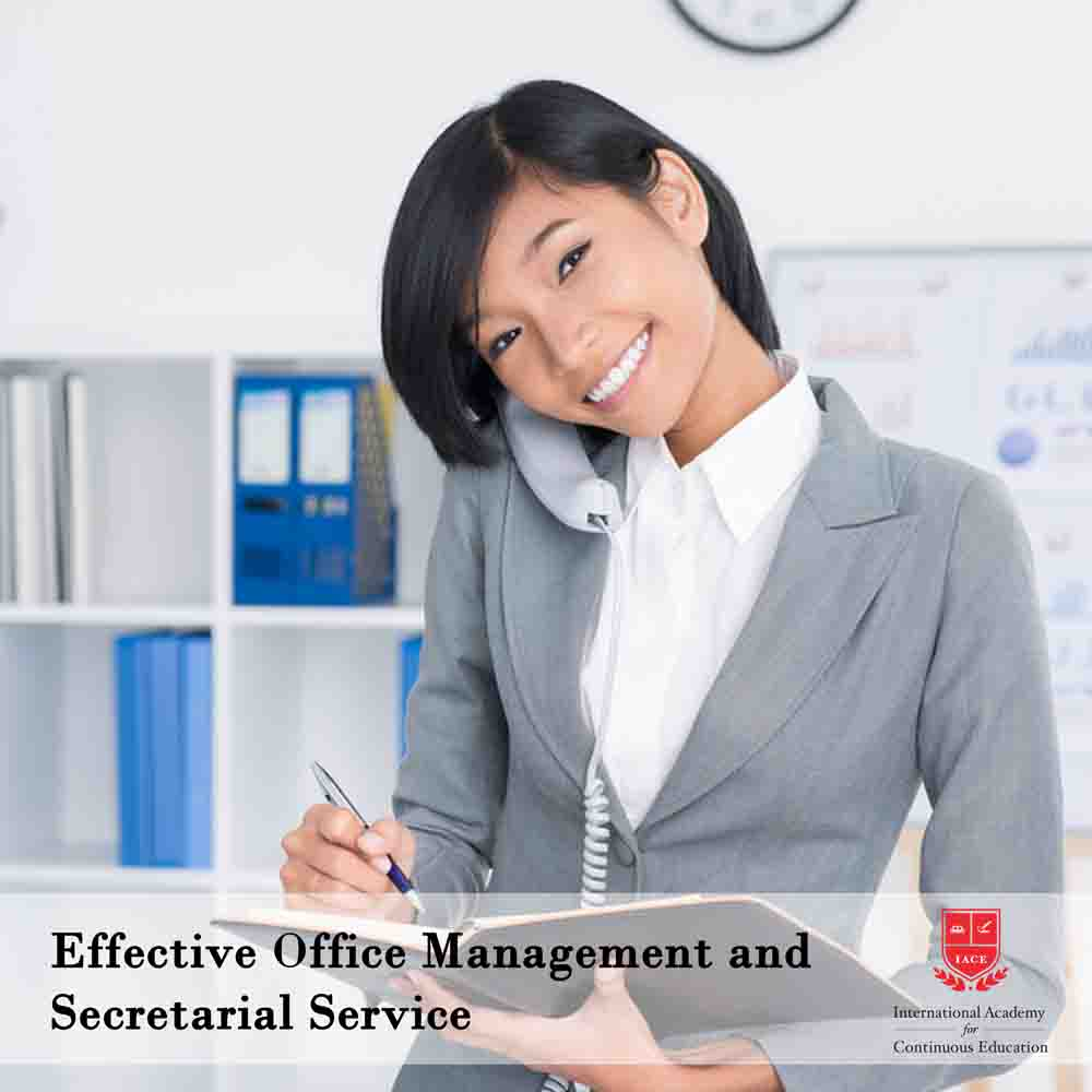 Effective office management and secretarial service