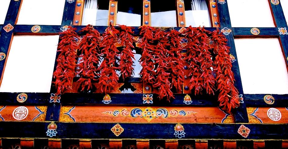 Bhutan-Chilies-Window