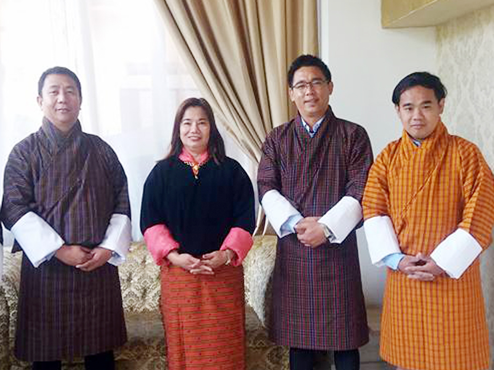 IACE's team together with IACE's alumnus Mr. Tsheten Wangchuk of National Statistics Bureau, Royal Government of Bhutan.