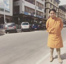 "IACE's Director Aries Balanay wearing ""Gho"" (Bhutan's National Dress) in the heart of Thimpu"