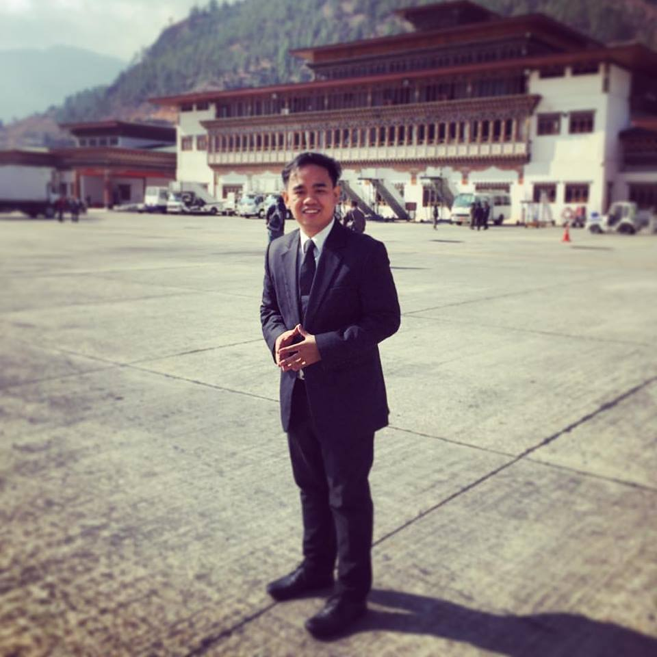 IACE's Director Aries Balanay in Paro Airport, Bhutan