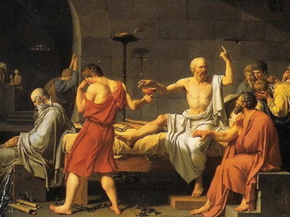 Painting: The Death of Socrates
