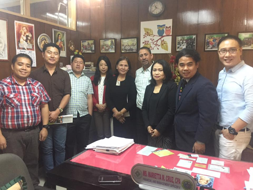 East Avenue Medical Center Finance Team together with JDWNRH delegates