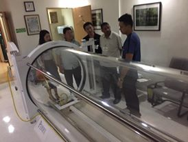 JDWRNH Delegates visited the hyperbaric chambers of St. Lukes hospital